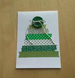washi xmas card